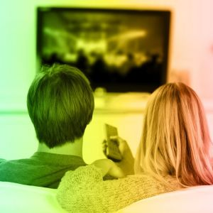 Couple Watching TV Web Image