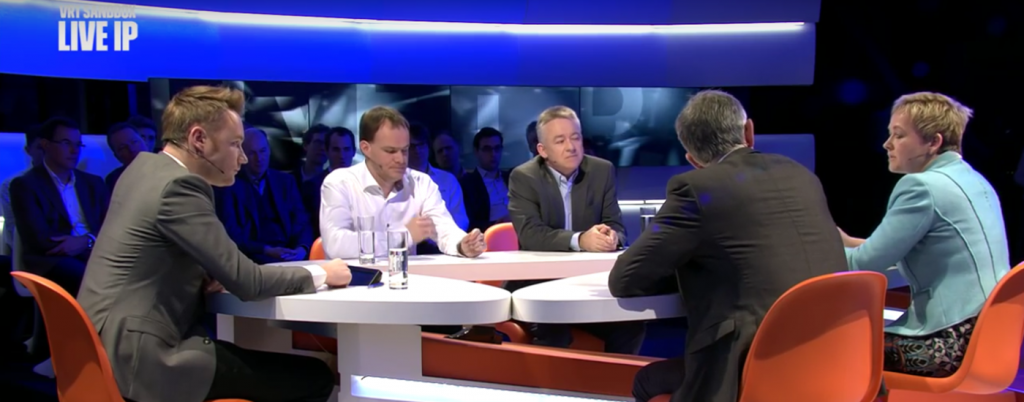 LiveIP Multicam Debate at VRT, 1 March 2016