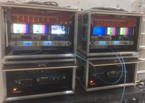 Two of HDR Denmark's Remote Production Units (RPU)